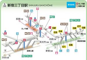 都営新宿三丁目駅構内図