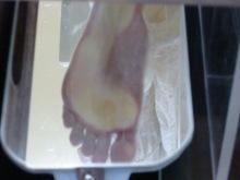 開帳足、浮き指気味の足