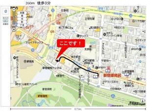 新宿御苑駅からの地図